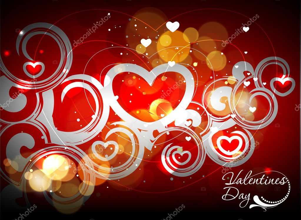 Abstract valentines day background design element  — Stock Vector #4693230