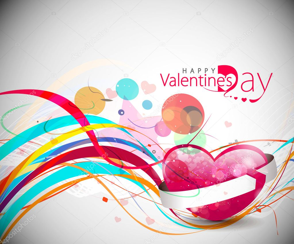 Abstract valentines day colorful grunge design element background. — Stockvektor #4694227