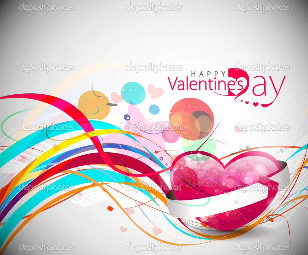 Abstract valentines day colorful grunge design element background. — Vettoriali Stock  #4694227