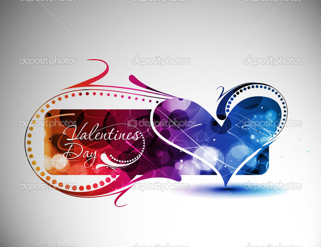 Abstract valentines day colorful banner design element background. — Stock Vector #4694540