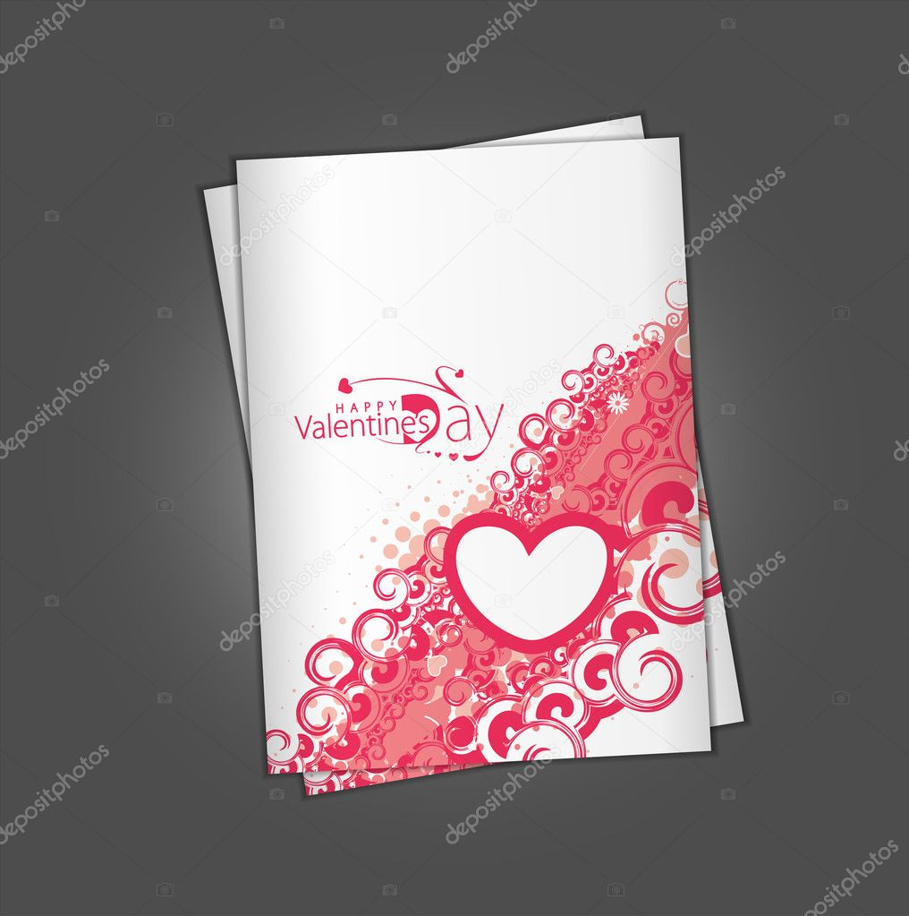 Valentine's day greeting card with presentation design.  Stock Vector #4699873