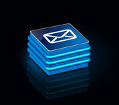 3d glossy email icon — Stock Vector