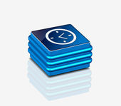 Icono de reloj brillante 3d — Vector de stock