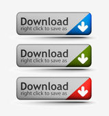 Web download icon — Stock Vector