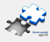 3d vector puzzle design — Stock Vector