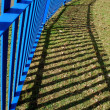 Blue fence — Stock Photo
