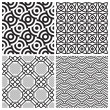 Seamless patterns set (vector) — Stock Vector