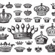Antique crowns set (vector) — Vektorgrafik