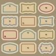 Royalty-Free Stock Imagen vectorial: Blank vintage labels set (vector)