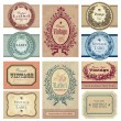 Vintage labels set (vector) - Stock Vector
