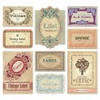 Vintage labels set (vector) - Stok Vektör