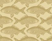 Seamless fish pattern (vector) — Stock Vector