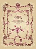 Vintage frame design (vector) — Stock Vector