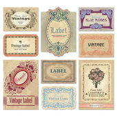 Vintage labels set (vector) — Stockvektor