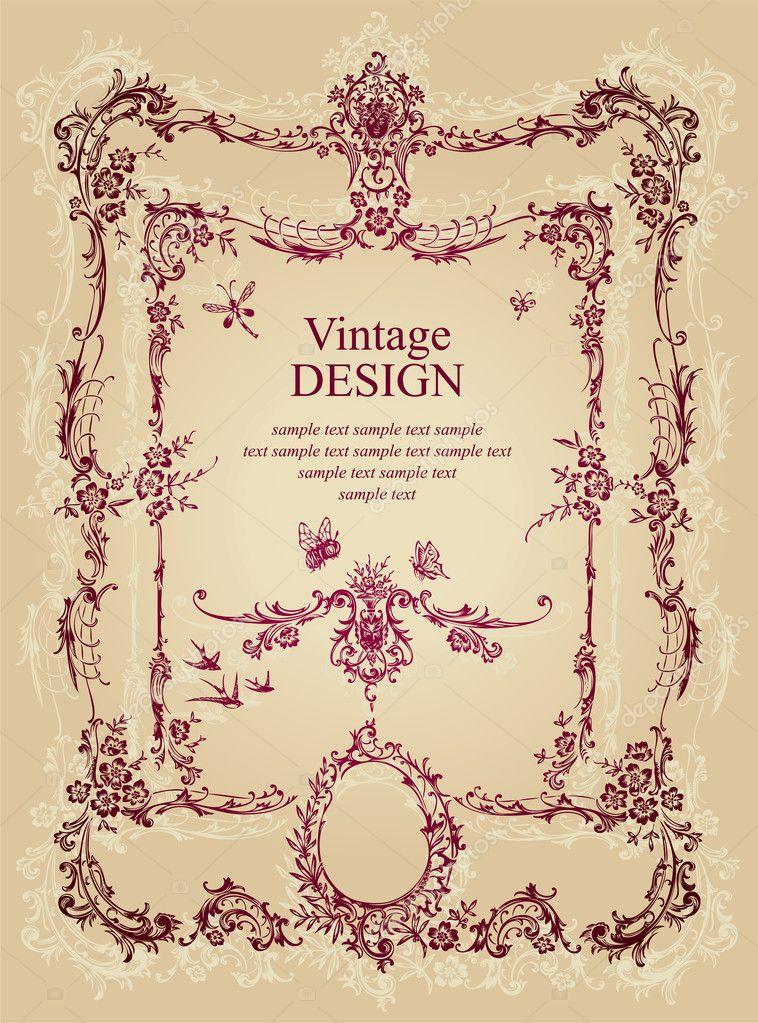 Vintage frame design (vector) — Stock Vector © milalala ...