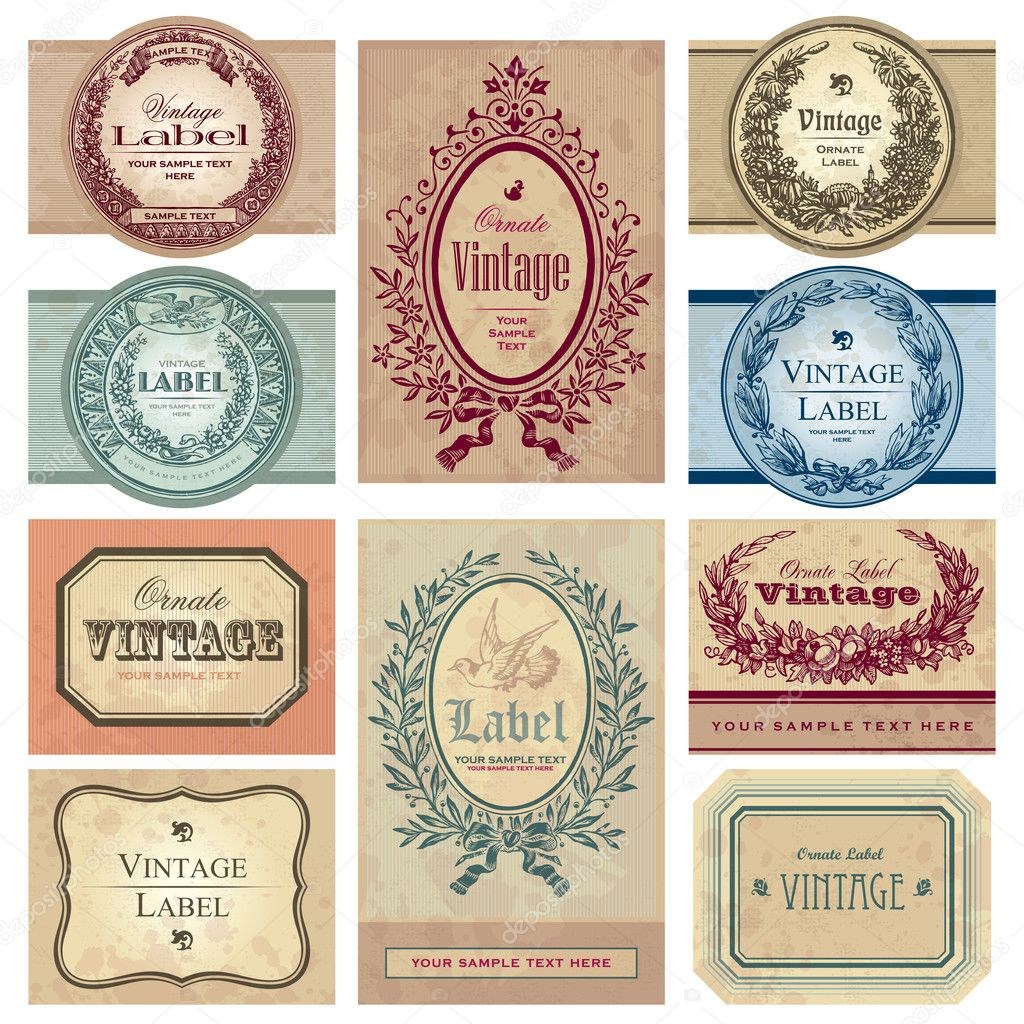 Set of vintage labels, scalable and editable vector illustrations; — Stock Vector #3526046
