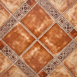 Closeup of terracotta ceramic tiles — Stock Photo