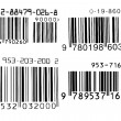 Bar code number on a white background — Stock Photo