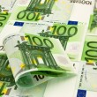 Pile of money 100 Euro — Stock Photo