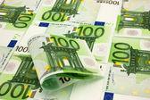Pile of money 100 Euro — Stock Photo