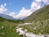Río alto en las montañas — Foto de Stock