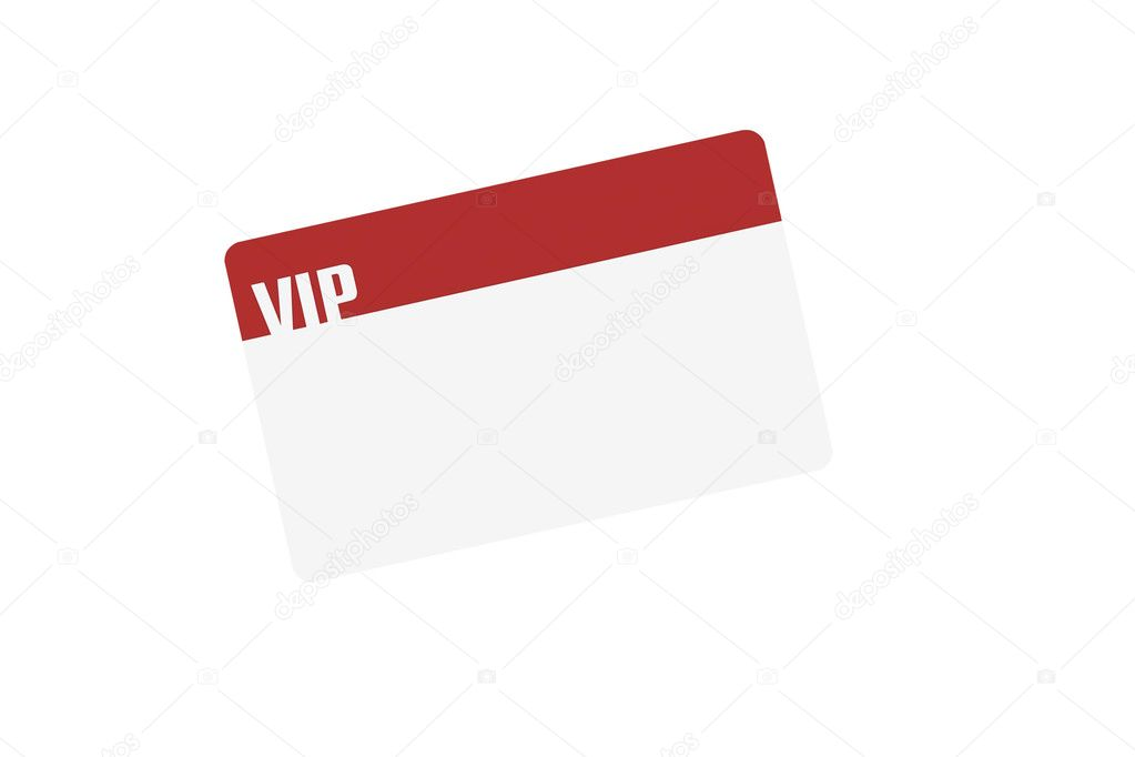 Vip card. Isolated on white, ready for your text. — Stock Photo #2702874