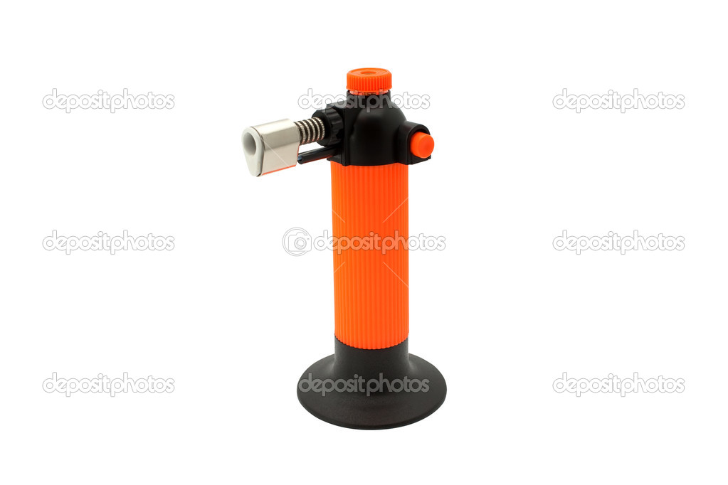 Multi purpose butane torch isolated on white — Stok fotoğraf #2703745