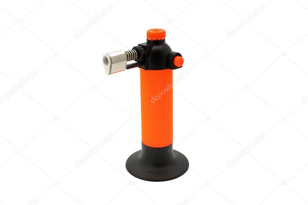Multi purpose butane torch isolated on white — Foto Stock #2703745