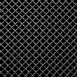 Metal grid on a black background — ストック写真