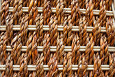 Texture of rustic interlaced straw — Stock Photo