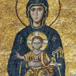 Mosaic of Virgin Mary and Chesus Christ - Stock Photo