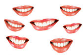 Various smilling women mouth — Stock Photo