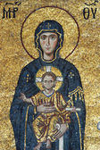 Mosaic of Virgin Mary and Chesus Christ — Stock Photo