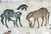 Horses, mosaic from Istanbul — Stock Photo