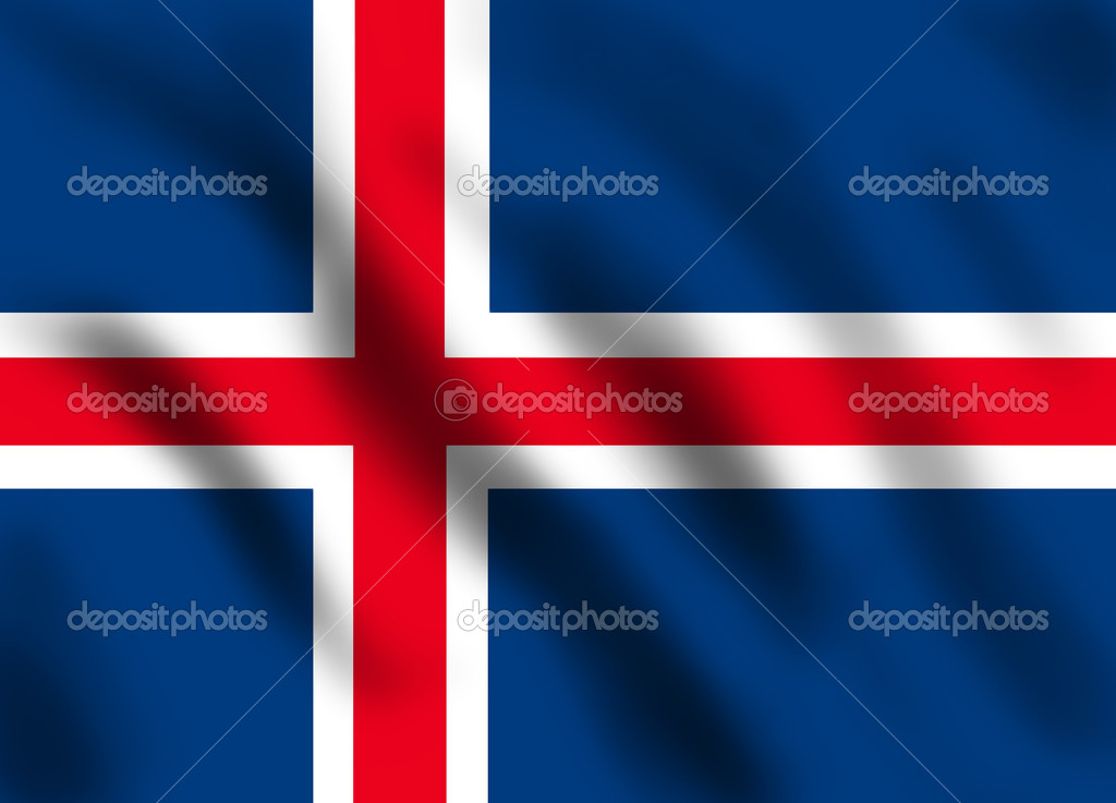 Flag if Iceland, illustration — Stock Photo #3149539