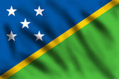 Flag of Solomon Island — Stock Photo