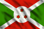 Flag of Burundi — Stock Photo