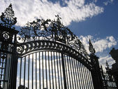 The pattern on the gate. Узор на воротах. — Stock Photo