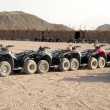 Stock Photo: Safari motorcycles