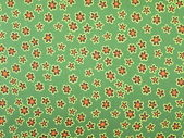 Green floral fabric — Stock Photo
