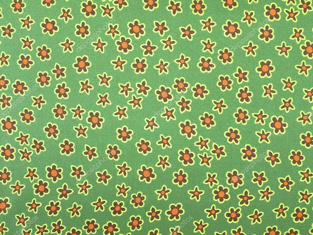 Green Floral Fabric Texture