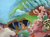 Malované ryby — Stock fotografie