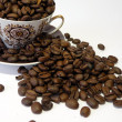 Cup and coffee beans — Stock Photo #3075601