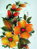 Bouquet de fleurs orange — Photo