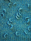 Blue knitting — Stock Photo