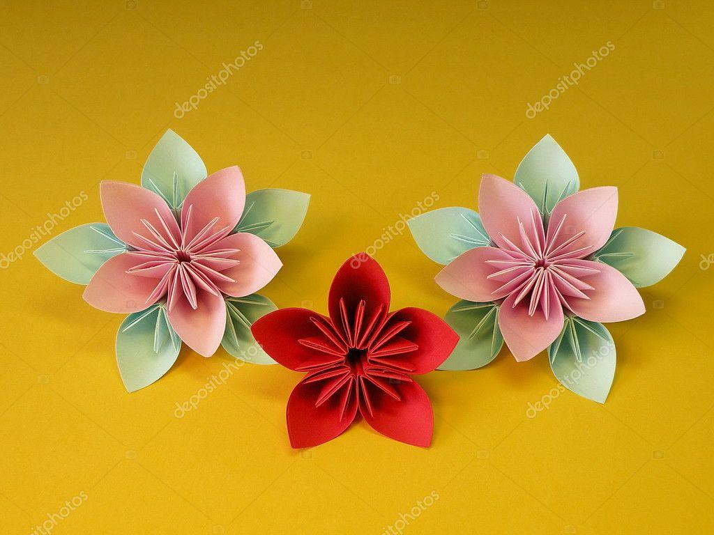 折纸花朵折纸花大全图解80种-Origami flowers图片