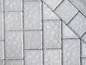 White bricks pavement — Photo