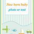 Baby boy announcement arrival card — Stock Photo