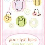 Baby girl card — Stock Photo