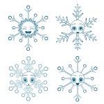 Anime snowflakes collection — Stock Photo